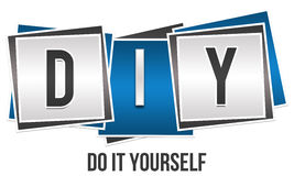 DIY - Do It Yourself. Image with DIY abbreviation and Do It Yourself text vector illustration