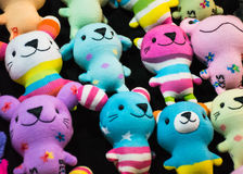 Diy doll socks. Bright color toys Stock Images