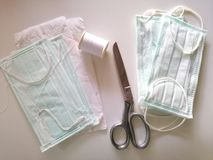 DIY Dust mask stock images