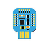 DIY electronic usb board with a microcontroller on ESP10 Royalty Free Stock Photography