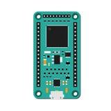 DIY-elektronisches grünes Minispitzenbrett mit einem Mikroregler Lizenzfreie Stockbilder