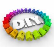 DIY fazem-no você mesmo dirigem o trabalhador manual da construção da melhoria das casas ilustração stock