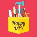 DIY feliz Imagen de archivo libre de regalías