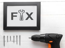 DIY-fixandehjälpmedel för hem- garnering Royaltyfri Bild