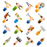 Diy Hands Icons Stock Photography