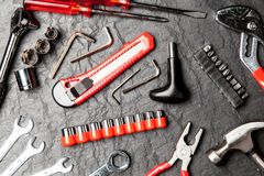 DIY-hjälpmedeluppsättning Arkivbild
