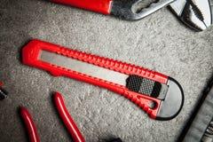 DIY-hjälpmedeluppsättning - kniv Arkivbild