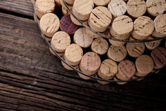 Diy homemade cork protector from hot pots Stock Photo