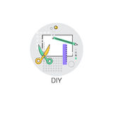 Diy House Renovation Tools Icon Royalty Free Stock Images