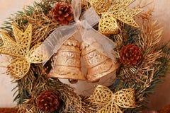 DIY hristmas advent wreath Stock Photography