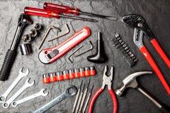 DIY-hulpmiddelenreeks stock afbeeldingen