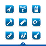DIY icons 10..smooth series. Set of nine DIY web icons from series Royalty Free Stock Photos