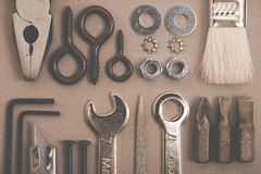 DIY image. a lot of tools. stock photography
