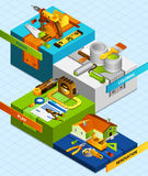 Diy Isometric Concept Royalty Free Stock Image