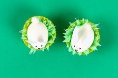 Diy-Kaninchen von den Eiern für Ostern stockfotografie
