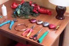 DIY-Kerstmiskroon stock foto's