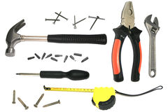 DIY kit #5. Isolated home improvement kit Royalty Free Stock Image