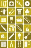 DIY lavora le icone Fotografia Stock Libera da Diritti