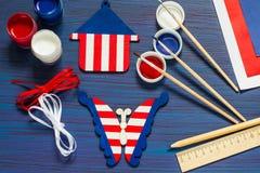 DIY Lembranças e presentes da pintura para o Dia da Independência o 4 de julho Fotos de Stock Royalty Free