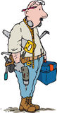 DIY man. Old fashioned man with many do it yourself tools Stock Photography