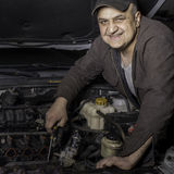 DIY mechanic at work Stock Photography