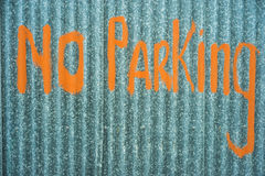 Diy no parking sign Royalty Free Stock Photos