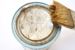 Diy paint and paintbrush Stock Photography