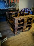 Pallet chair stock photography