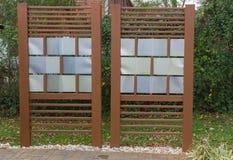 DIY Patio Privacy Fence Stock Photos