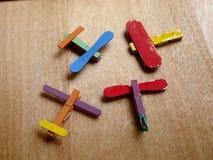 DIY plane toy. Colorful DIY ice cream stick plane Stock Image