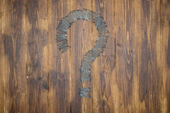 DIY Questions, Punctuation Mark by Group of nail. Construction Material royalty free stock images