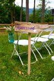 DIY Reserved Sign Stock Photos