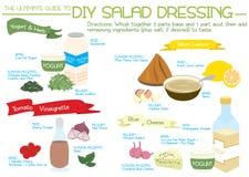 DIY-Salatsoße 2 Stockfotografie