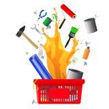 DIY shopping card Royalty Free Stock Image