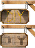 Diy Sign with Chain Royalty Free Stock Images