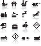 diy symbolsset för konstruktion royaltyfri illustrationer