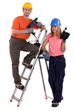 DIY teamwork Royalty Free Stock Image