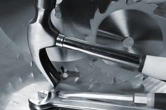 Diy tools in a blue toning Stock Photos