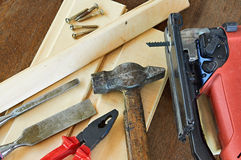 DIY Tools. Construction equipment. Royalty Free Stock Image