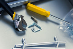 Diy tools and equipment. Some common diy tools/equipment shot with shallow depth of field Stock Photography