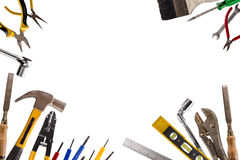 DIY tools. Image of DIY tools isolate on white background Royalty Free Stock Photo
