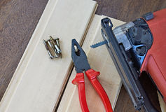 DIY Tools. Jigsaw and Pliers Stock Photography