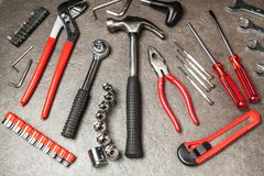 DIY Tools set royalty free stock images