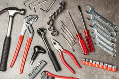 DIY Tools set stock photo