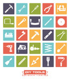 DIY tools Square Color Icon Collection royalty free illustration