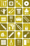 DIY tools symboler Royaltyfri Fotografi