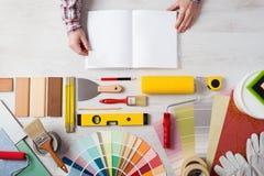 DIY training manual Stock Photos