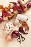 DIY Weinlese-Gemüsedekoration Stockfoto