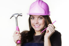 DIY woman Royalty Free Stock Photo