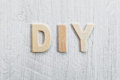 Diy on wooden texture Royalty Free Stock Photography